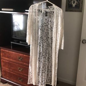 Lace cover up brand new